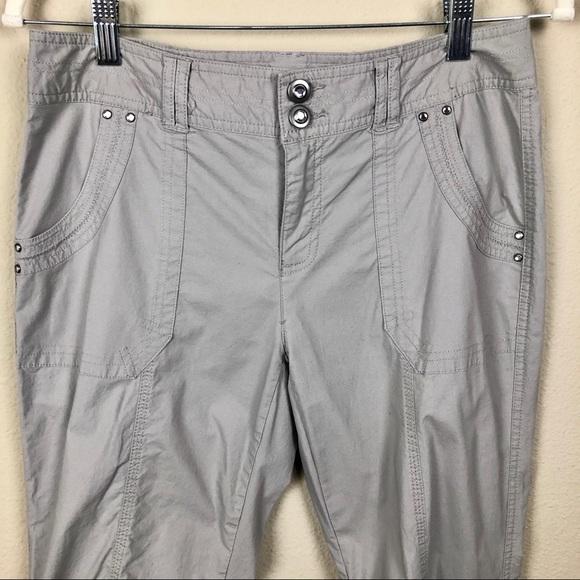 INC International Concepts Petite Size 6P Black Summer Short Pants Side Pocket